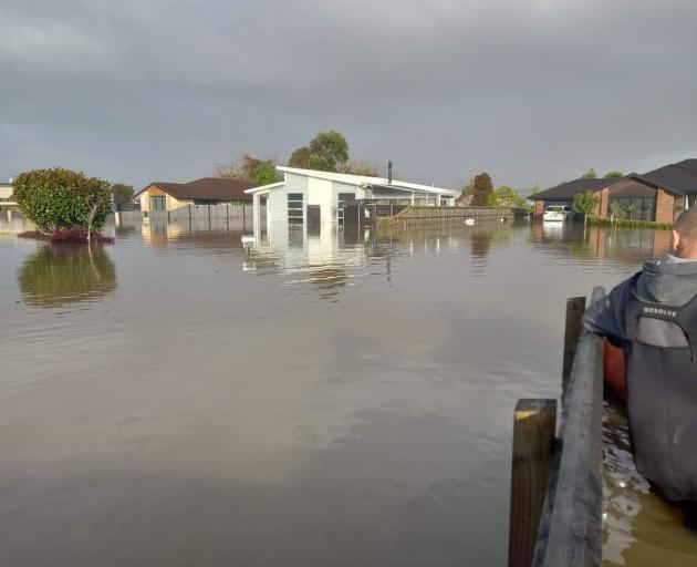 Flooding in Kawatiri Pl, Westport. Photo: Supplied