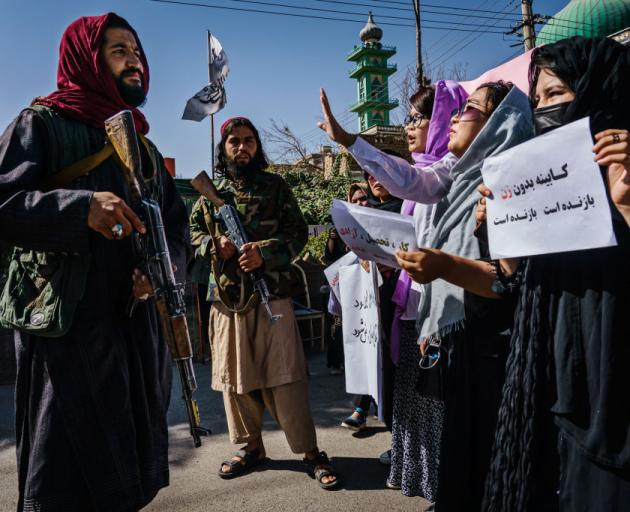 Women have staged several protests across Afghanistan, demanding that the rights they won over...