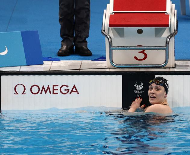 Sophie Pascoe finished fifth in the butterfly tonight but takes home four medals - two golds, a...