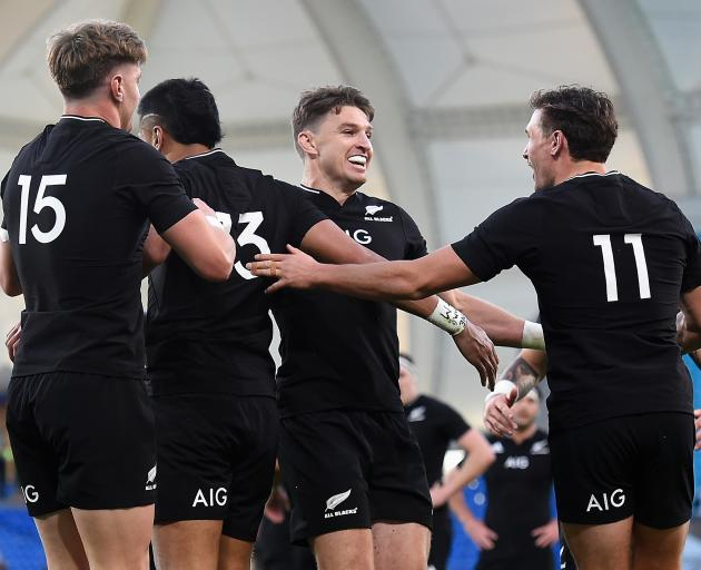 The All Blacks never gave the Pumas a sniff. Photo: Getty Images