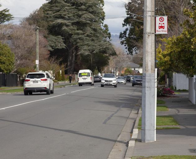 The bus stop on Clyde Rd near Penhelig Pl will stay put when the nearby no-stopping zone is...