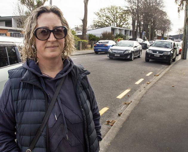 "Parent Heidi Goebbels says the traffic on her St Albans School run is ""horrific"". Photo: Geoff Sloan"