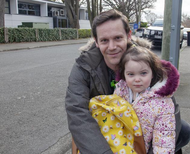 Simon Rogers, with daughter Nina Rogers. Photo: Geoff Sloan
