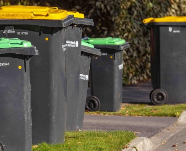 Uncollected bins are still an issue for people in the Papanui-Innes Community Board area. Photo:...