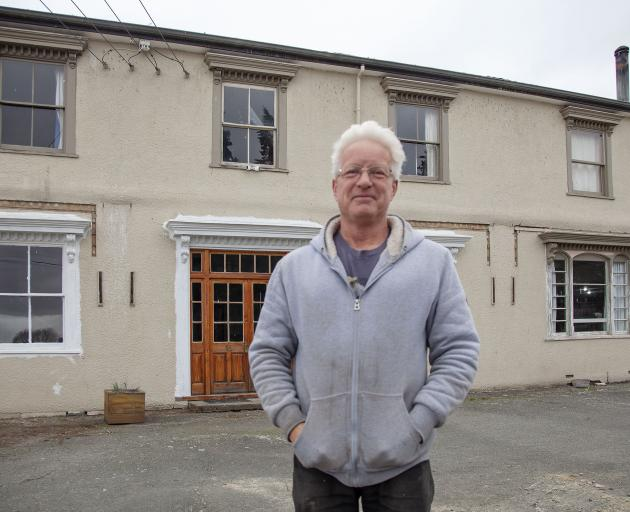 Frank Hakkaart is turning the former Hororata Hotel into a pottery studio and art gallery. Photo:...