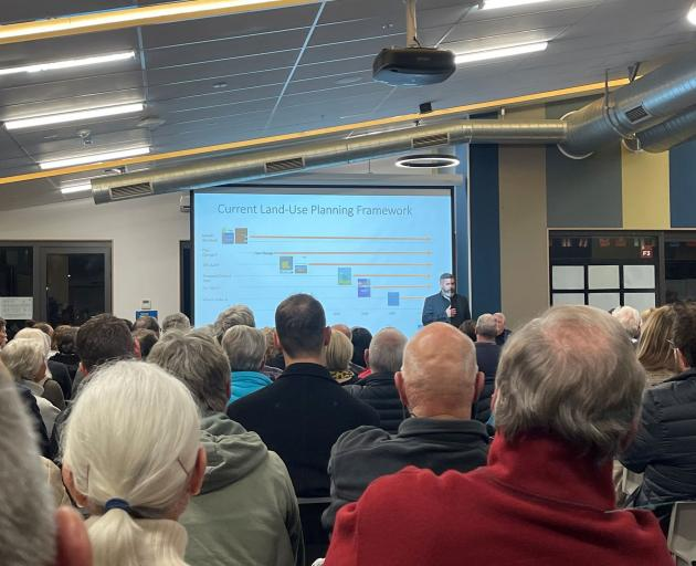 A public meeting in June over the plan change. Photo: Supplied