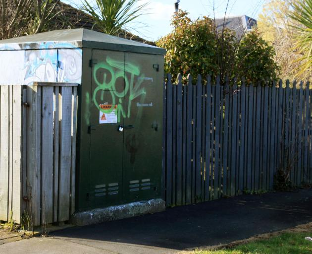 Graffiti on Lambeth Cres. Photo: Geoff Sloan