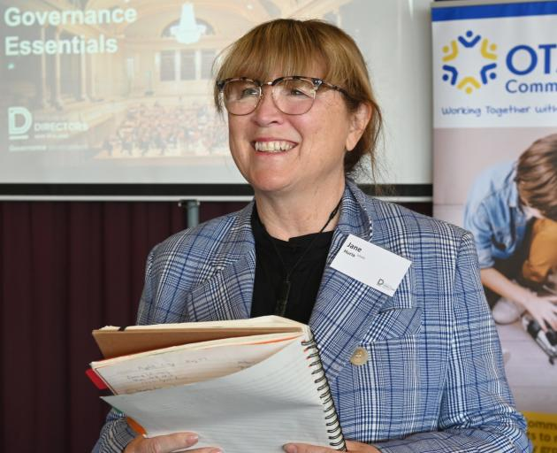 Jane Huria, of Christchurch, presents at the Institute of Directors' not-for-profit governance...