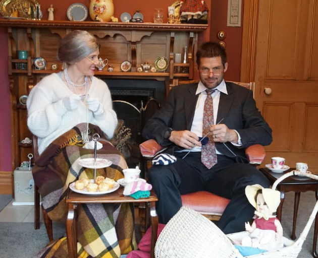 Richie and Gemma McCaw have taken up knitting. Photo: Supplied / Instagram