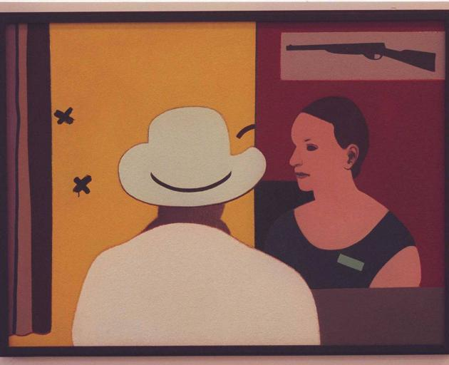 'At the Gun Club' painting by Eion Stevens. Photo: NZ Herald (file)