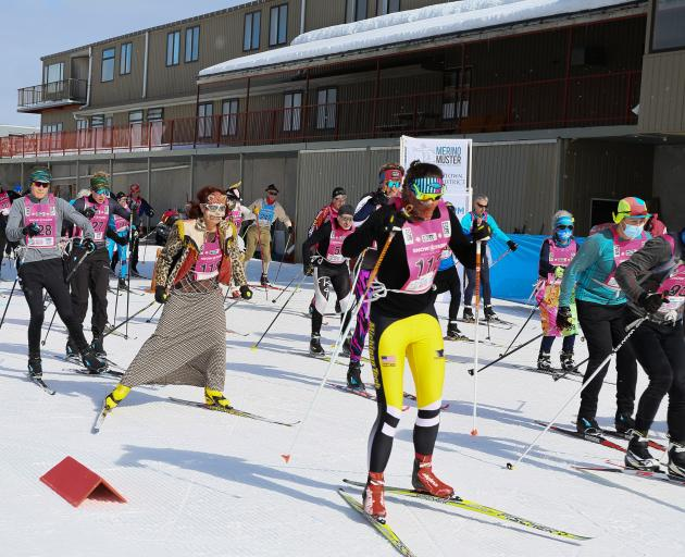 Merino Muster celebration competitors hit the trails at the Snow Farm on Saturday. PHOTOS: JOANNA...