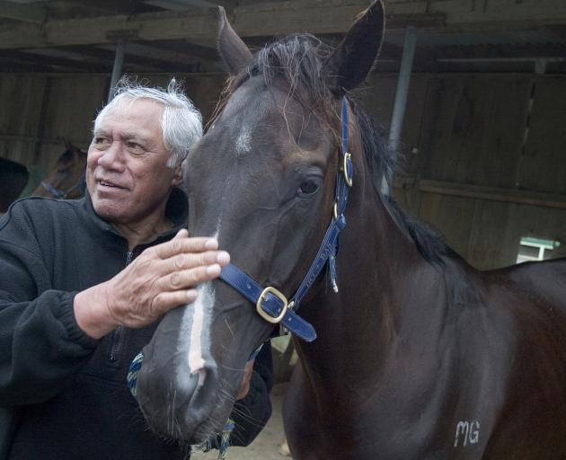 Waka Nathan with his horse Black Panther in 2005. Photo: NZ Herald