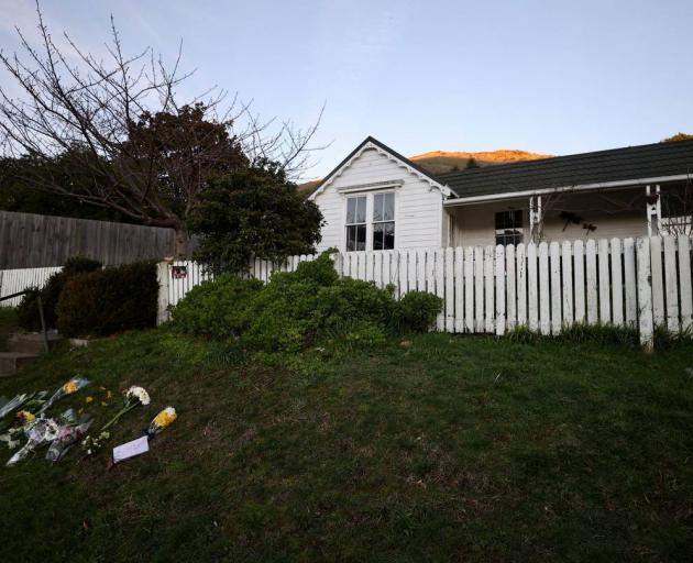 Flowers have been left at the house where Heather Foote sustained fatal injuries. Photo: George...