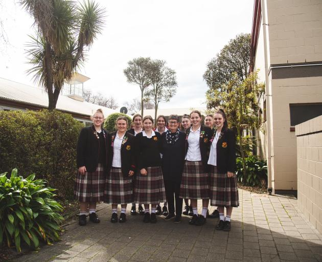 Looking forward to celebrating this year's Waitaki House centenary next year are (back, from left...