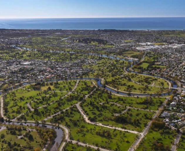 The Ōtākaro Avon River Corridor Regeneration Area is three-and-a-half times larger than Hagley...