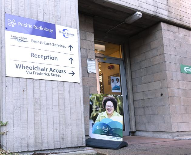 The entrance to Pacific Radiology at Dunedin Hospital, in Cumberland St. PHOTO: LINDA ROBERTSON