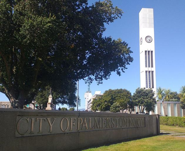 Palmerston North's latern-crowned Hopwood Clock Tower.