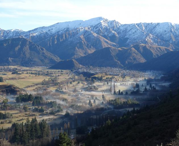 Smoke and fog lingers over Arrowtown where air pollution is already monitored. ...