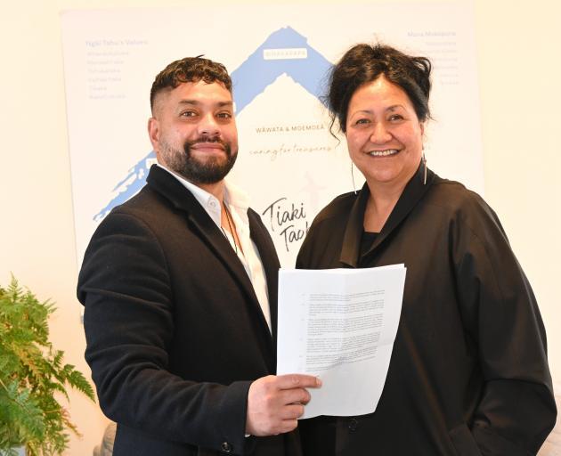 Otakou Health principal Iwi adviser Matt Matahaere and chairwoman Donna Matahaere-Atariki at...