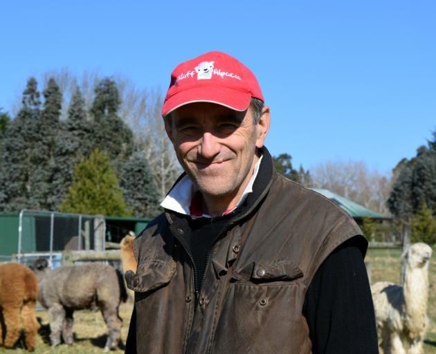 Andy Nailard, of Flagstaff Alpacas, Dunedin.