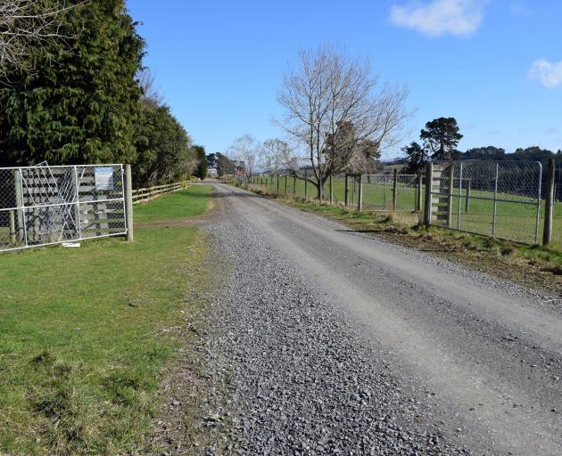 The entrance to a Clutha farm sold to a Swiss company for forestry.