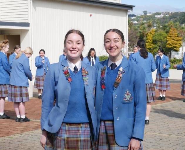 Queen's High School Maori prefects Ella McDonald (left) and Maia Tutbury (both 17) organised a...