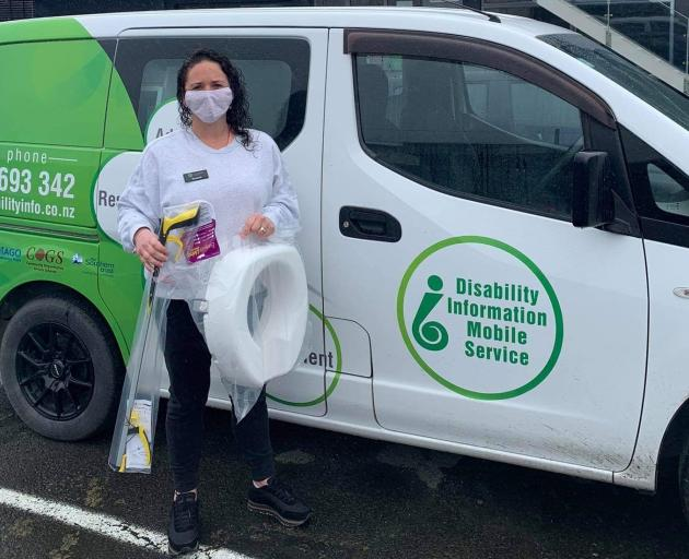Rain or shine, mobile service co-ordinator Rochell Fox has been providing accessibility items...