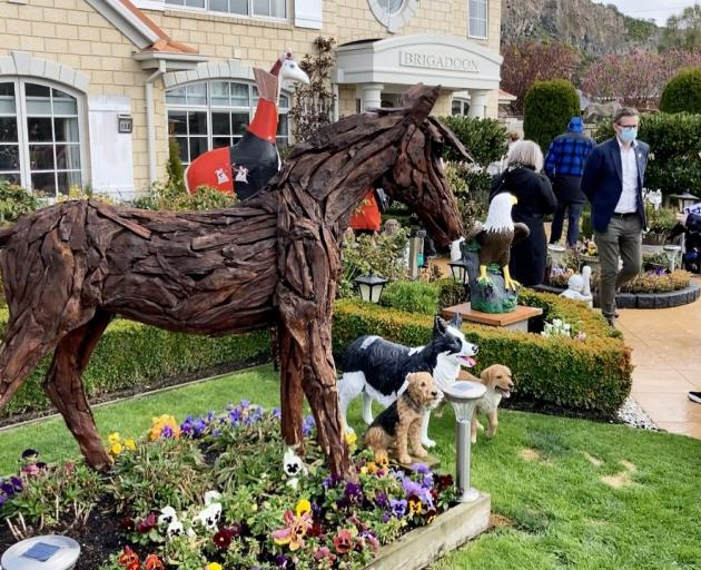 The wooden horse made from driftwood sold for $3400. Photo: Geoff Sloan