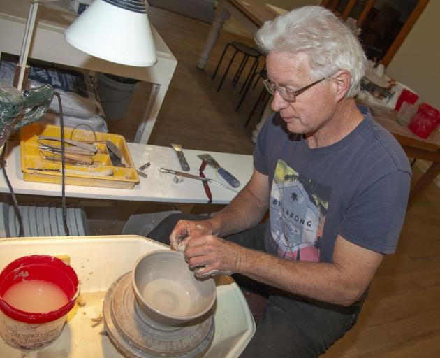 Frank Hakkaart enjoys pottery and home renovation. Photo: Geoff Sloan