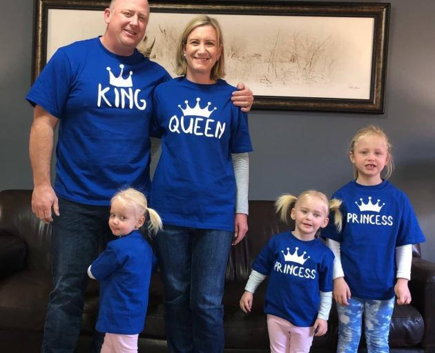 Graham and Lauren Dickason with their daughters Liane, Maya and Karla. Photo: Facebook