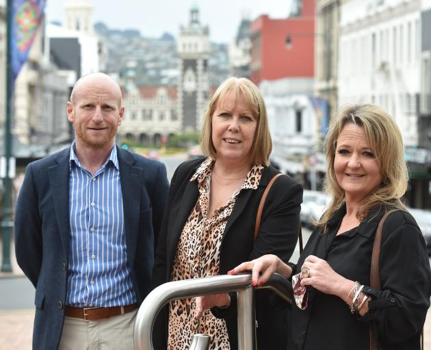 Dean Delaney, Deb Sutton (centre) and Megan McLay, all of Dunedin, have formed a new employment...