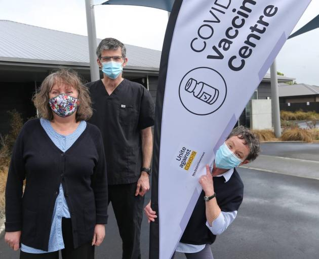 Gearing up for this weekend's Super Saturday vaccination event are (from left) Tracey Blower,...