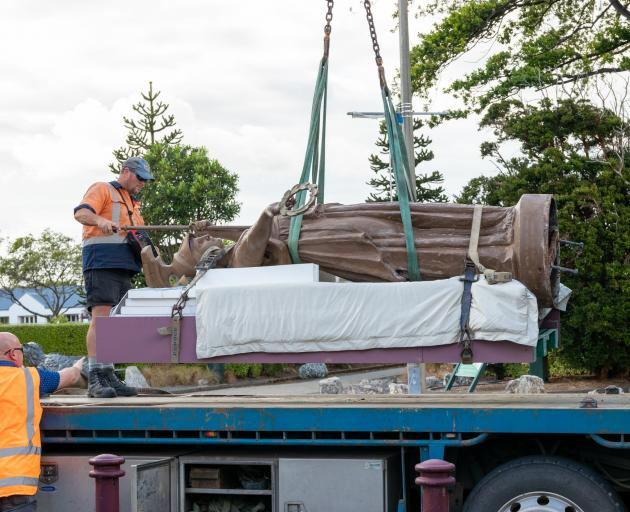 The statue of Minerva was removed from the museum for repairs in 2018. PHOTO: SUPPLIED