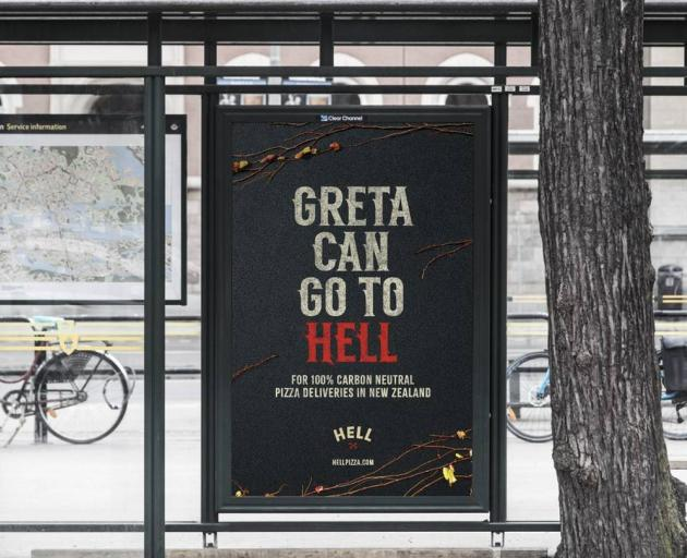 """Hell Pizza has sent an invitation to Greta Thunberg in her hometown of Stockholm, encouraging her to """"go to Hell"""" after she called out NZ for """"not doing anything"""" on the climate crisis. Photo: NZ Herald"""