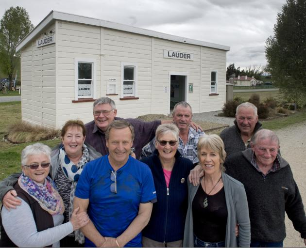 Some of the team behind the restoration of the Lauder Railway Station are (from left) Esme...