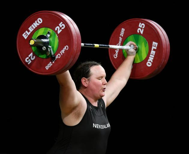 Laurel Hubbard represented New Zealand at the 2018 Commonwealth Games on the Gold Coast. Photo:...