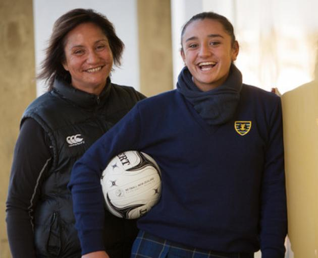 At 15 years-old Tiana Metuarau, pictured with her mother Waimarama Taumaunu, will be the youngest...