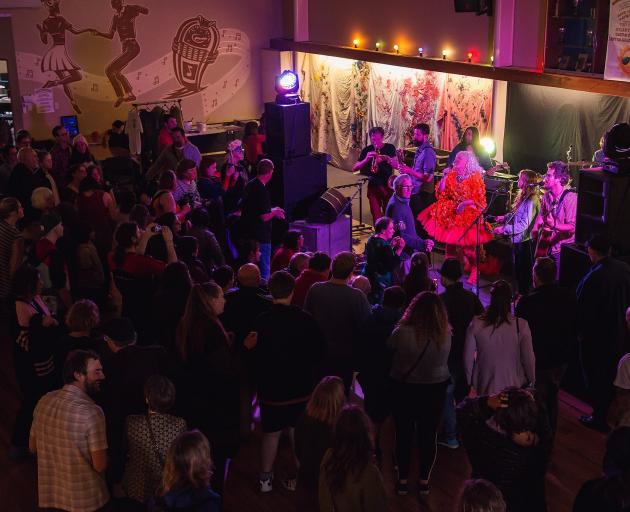 Tahu and the Takahes perform at last year's Great Sunday Shindig. PHOTO: SUPPLIED