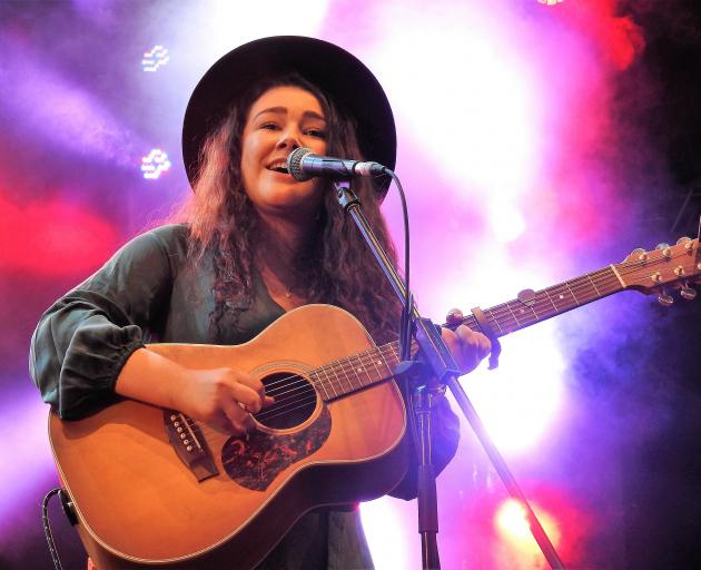 Jenny Mitchell, of Gore, plays in the opening concert at Tamworth's Country Music Festival on...