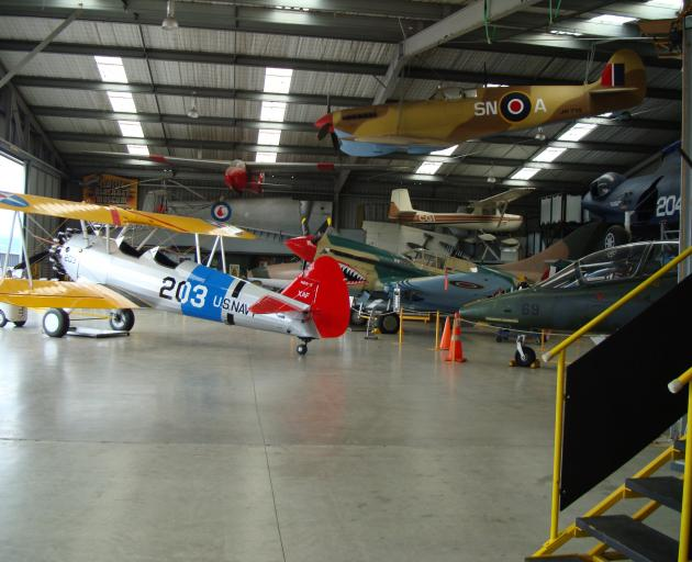 The Cessna 150 ZK-CGI (just below the Spitfire), which trainee pilot Robert Bakhuis stole, flew...