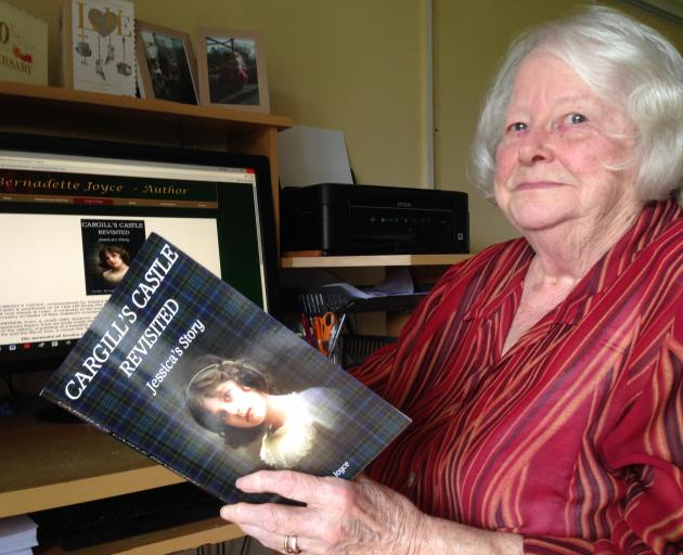 Timaru author Bernadette Joyce with her third novel, a work of historical fiction. PHOTO: CLAIRE...