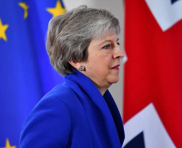 Prime Minister Theresa May. The deadlock leaves Britain's plan to exit the EU- still scheduled to...