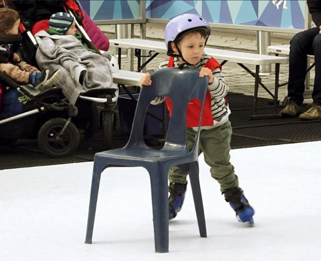 The ice rink in central Christchurch is open until Sunday. Photo: Geoff Sloan