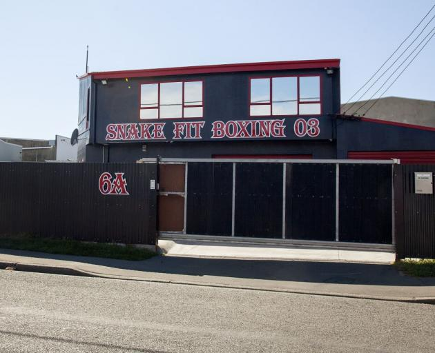 The Snake Fit Boxing gym. Photo: Geoff Sloan