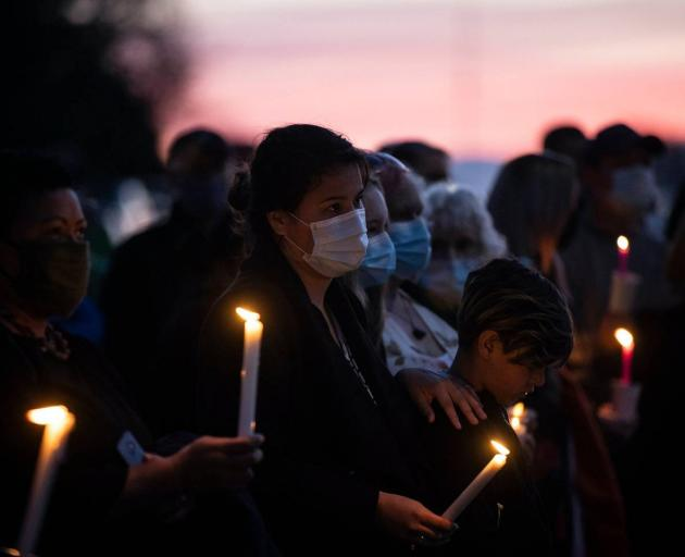 Many from the Timaru community attended tonight's vigil. Photo: NZ Herald