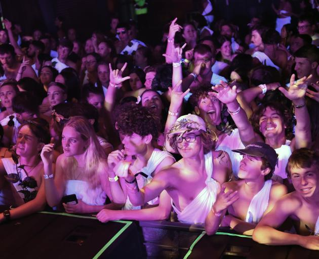 Students at this year's toga party in Dunedin. Photo: Gregor Richardson