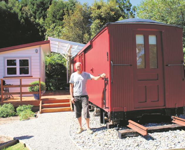 Dave Cross rescued the train carriage. Photo: Greymouth Star