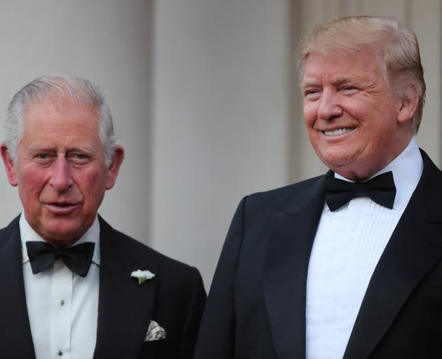 Prince Charles with Donald Trump. Photo: Reuters
