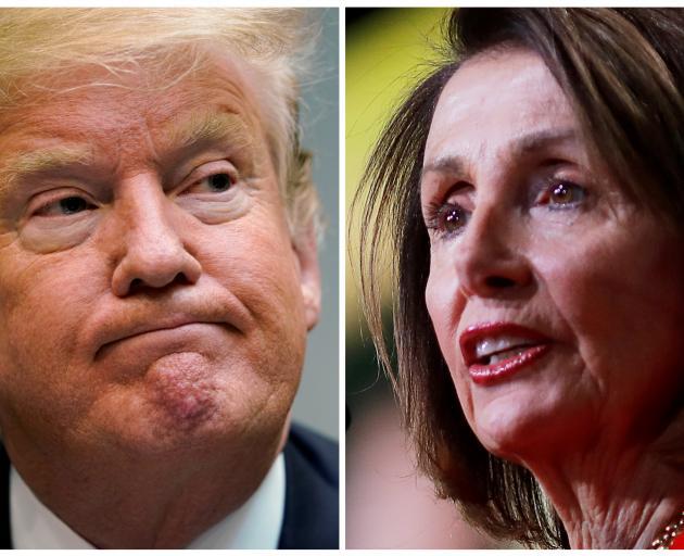 Donald Trump and Nancy Pelosi. Photo: Reuters