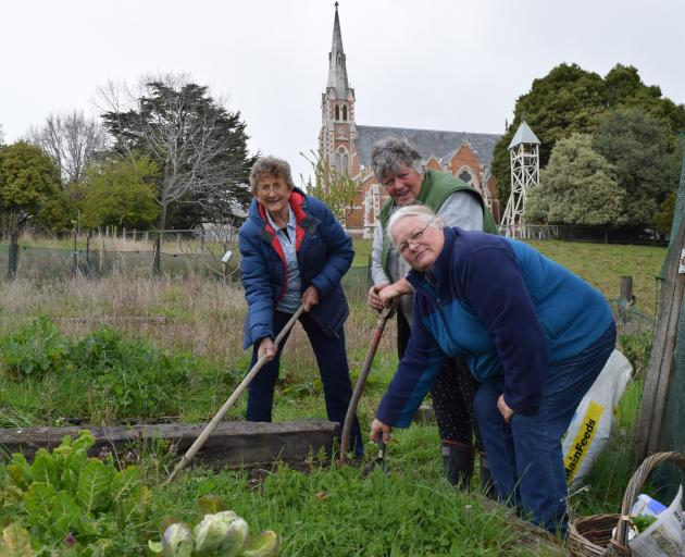 East Taieri Community Garden supporters (from left) Ruth Rivett-Cuthbert and Margaret Scott and...